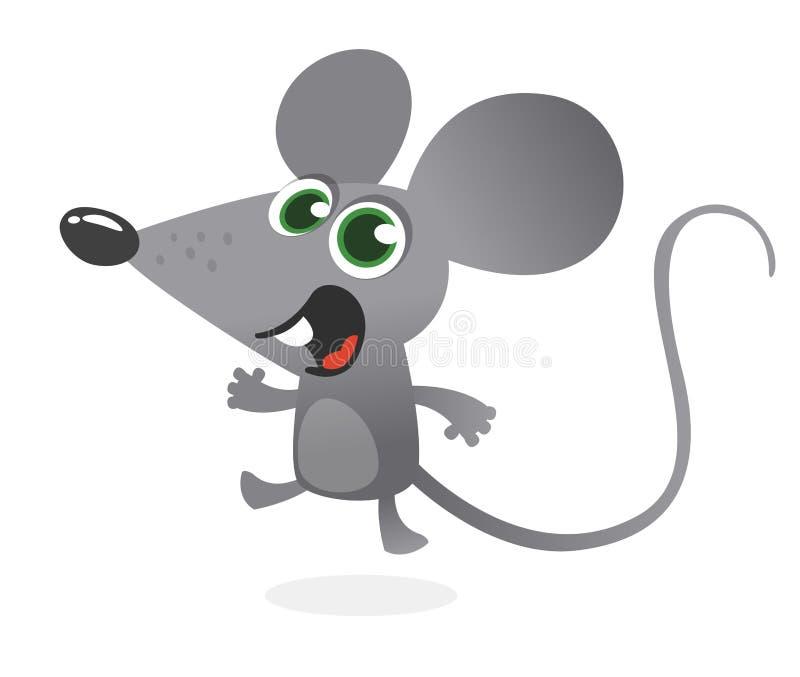 Говорить мыши шаржа серый Изолированная иллюстрация вектора бесплатная иллюстрация