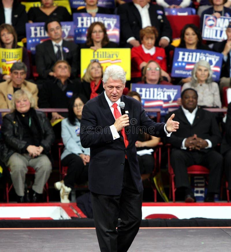 говорить прежнего президента Bill Clinton стоковое фото rf