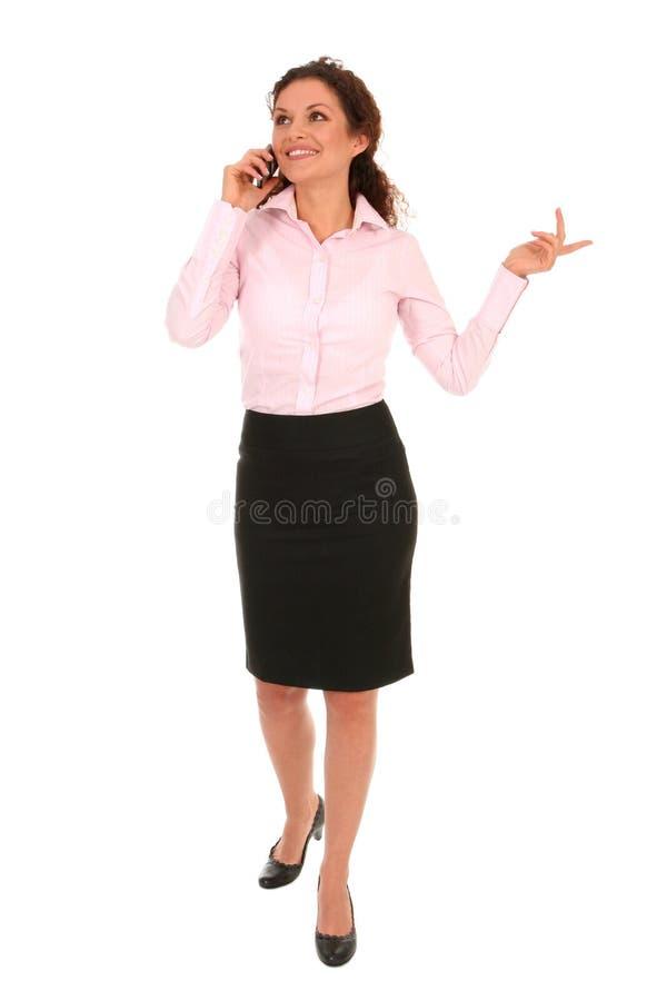 говорить телефона коммерсантки Стоковые Фотографии RF