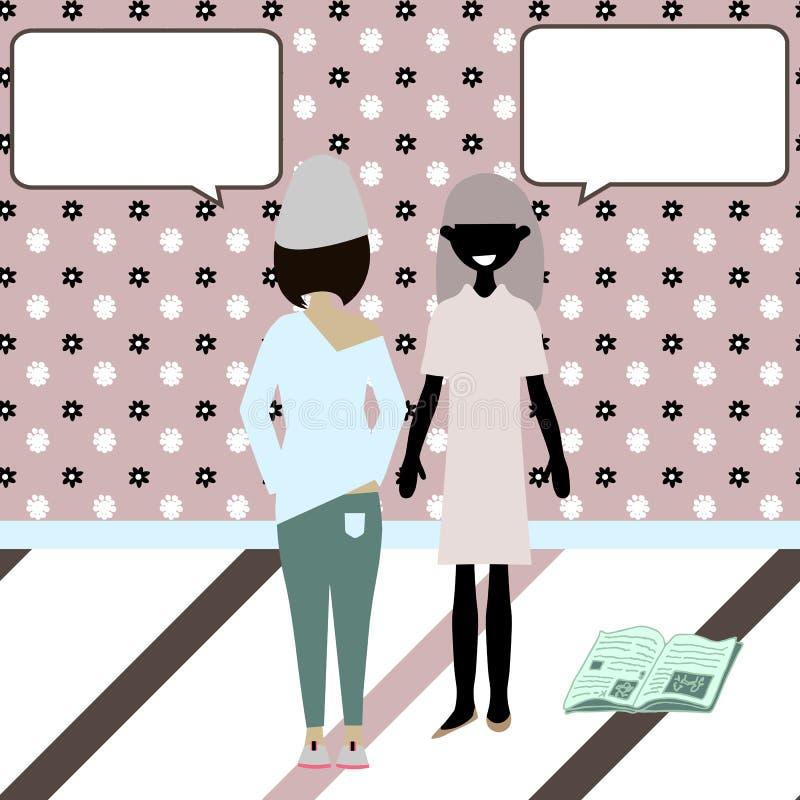 Говорить характеров шаржа вектора смешной бесплатная иллюстрация