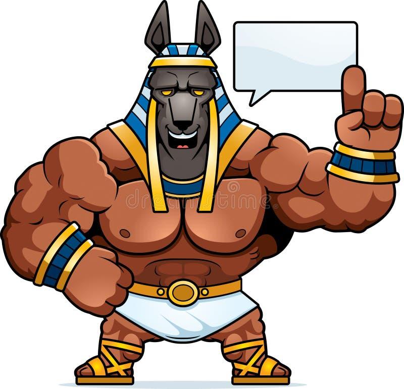 Говорить Anubis шаржа иллюстрация вектора
