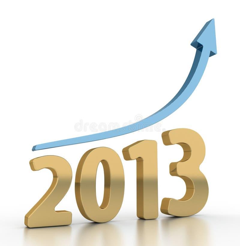Года диаграмма 2013 роста иллюстрация вектора