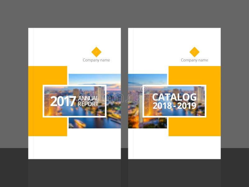 Годовой отчет и каталог шаблона дизайна крышки бесплатная иллюстрация
