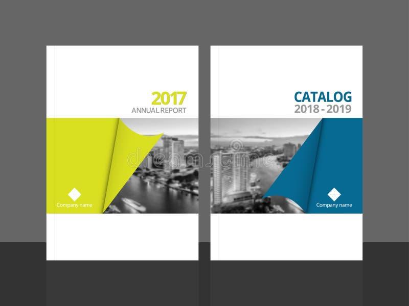 Годовой отчет и каталог шаблона дизайна крышки иллюстрация штока