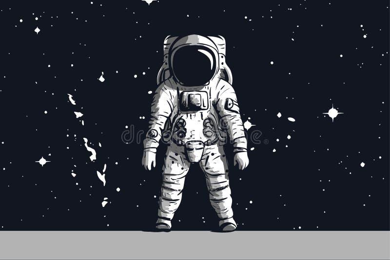 Годовщина посадки на луну пятидесятых астронавта бесплатная иллюстрация