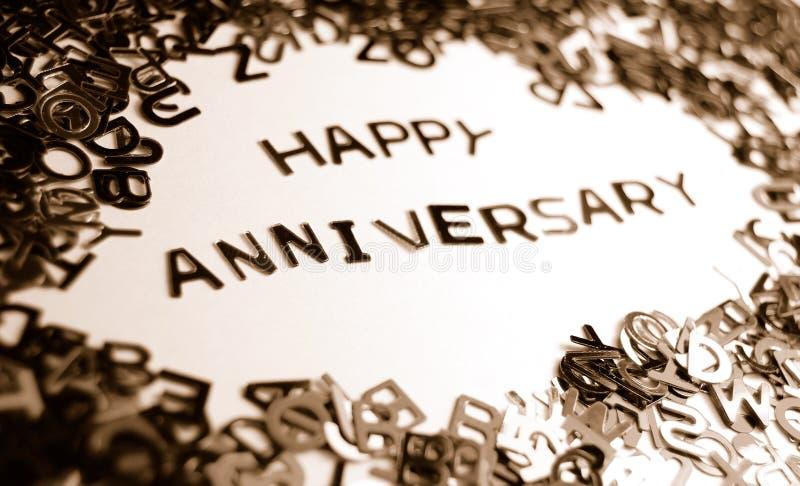 годовщина счастливая стоковое изображение