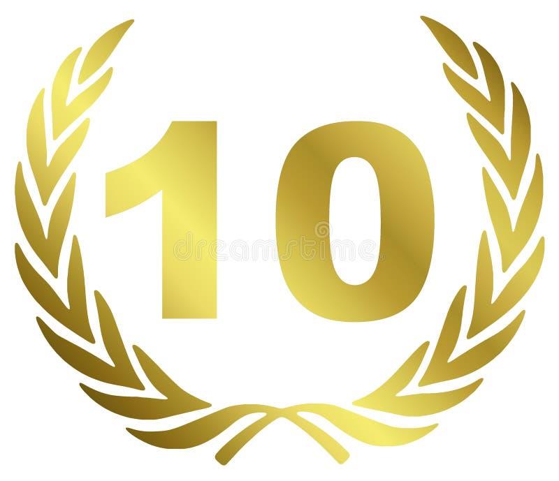 годовщина 10 иллюстрация штока
