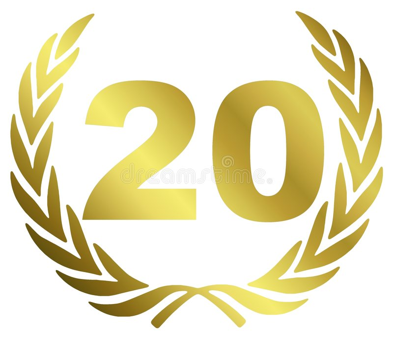 годовщина 20 иллюстрация штока