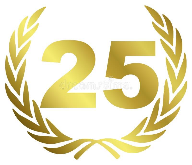 годовщина 25 иллюстрация вектора