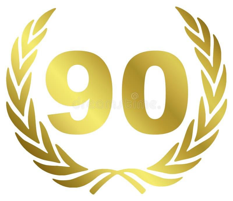 годовщина 90 иллюстрация вектора