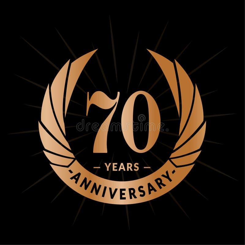 70 годовщины лет шаблона дизайна Элегантный дизайн логотипа годовщины 70 лет логотипа иллюстрация вектора