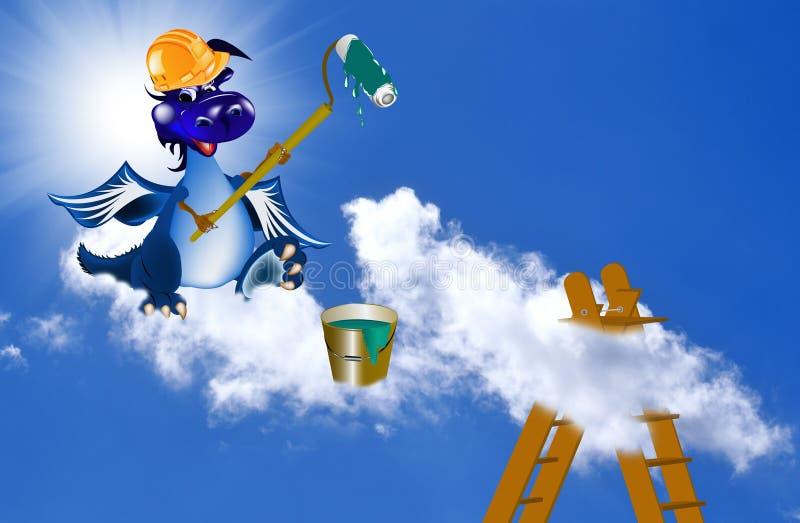 год голубого темного дракона новый s бесплатная иллюстрация