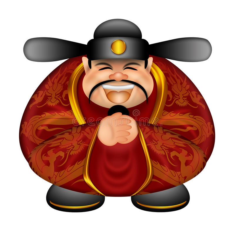 год китайских дег бога счастливых новый желая иллюстрация вектора