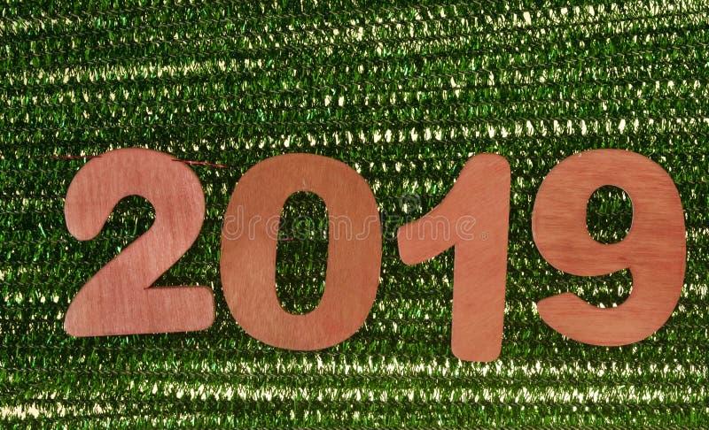 Год 2019 красных номеров стоковые изображения