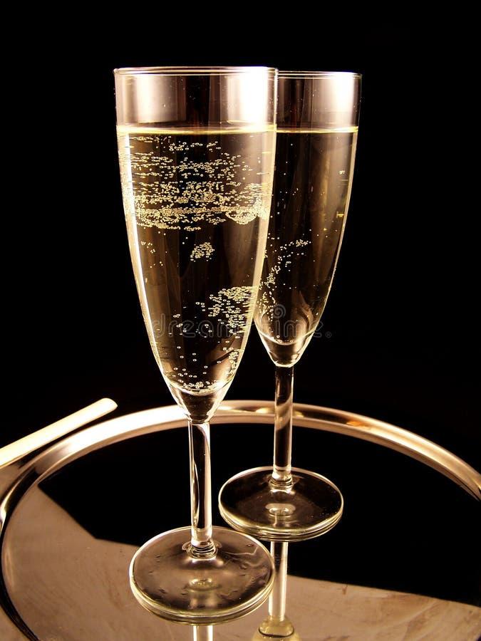 год новой партии шампанского готовый стоковые изображения rf