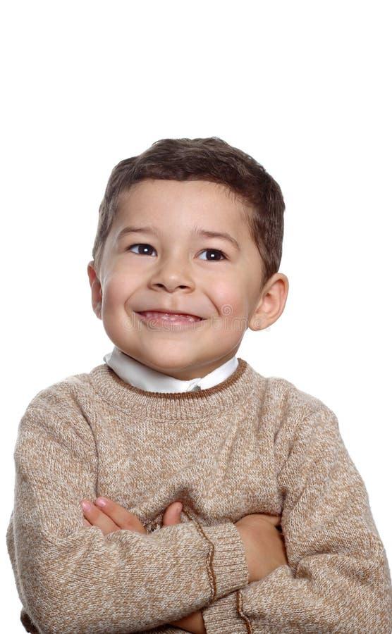 год портрета мальчика 5 старый стоковая фотография