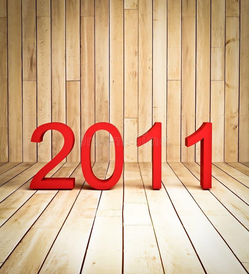 год предпосылки 2011 3d новый деревянный бесплатная иллюстрация