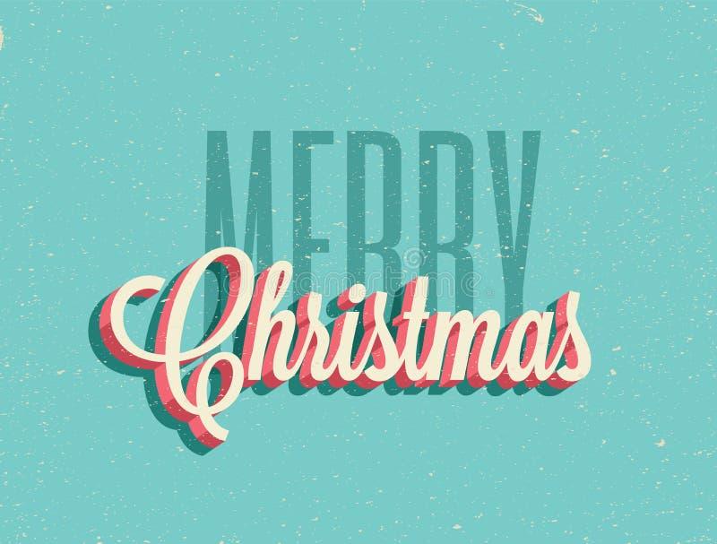 Год сбора винограда ввел предпосылку в моду веселого рождества также вектор иллюстрации притяжки corel бесплатная иллюстрация