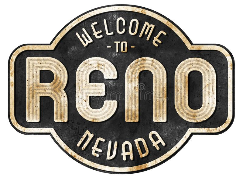 Год сбора винограда знака улицы Reno стоковая фотография rf