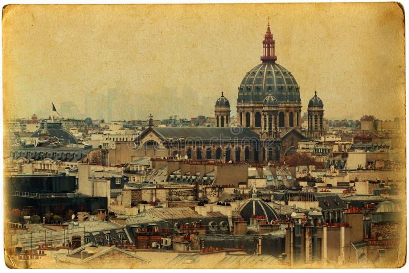 Год сбора винограда Париж стоковые изображения