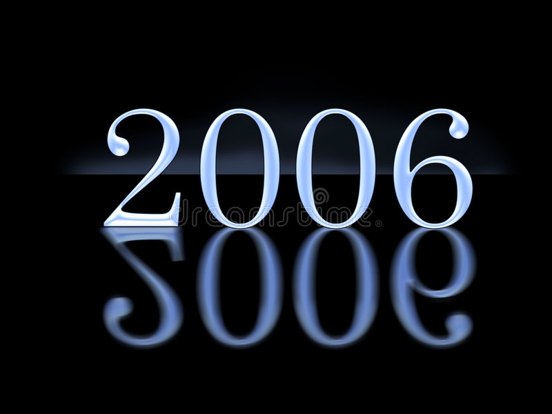 год 2006 3d Стоковое фото RF