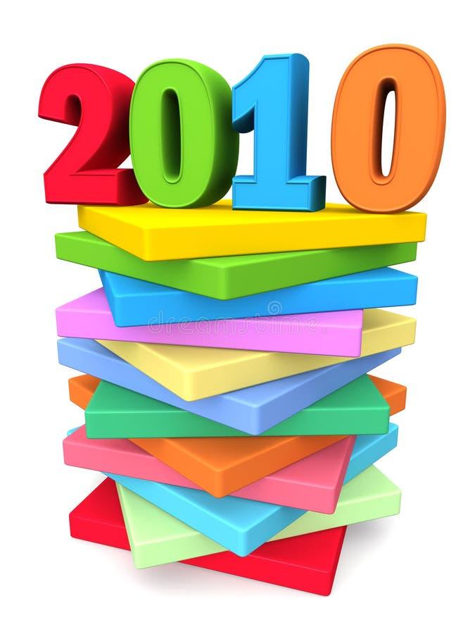 год 2010 принципиальной схемы цвета торжества справедливый иллюстрация штока