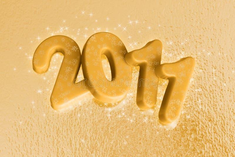 год 2011 звезды золота новый иллюстрация вектора