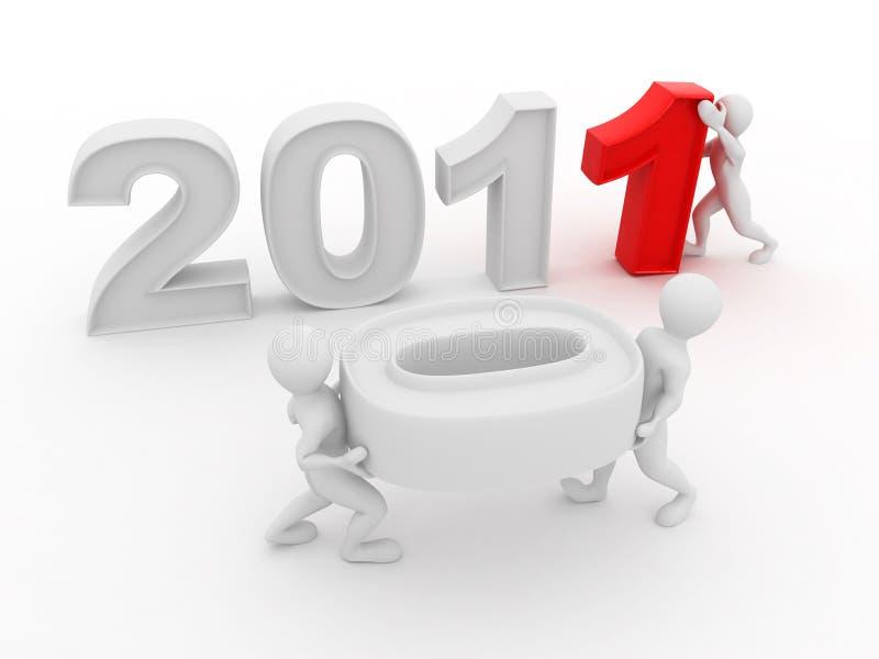 год 2011 номера людей новый иллюстрация штока