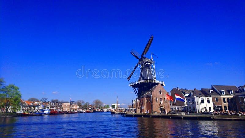 Голландская ветрянка в Голландии стоковая фотография
