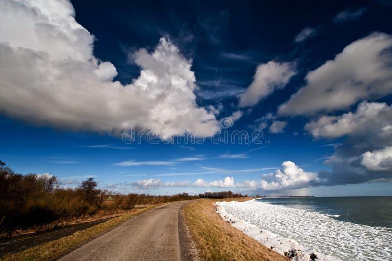 голландская зима ландшафта стоковая фотография rf