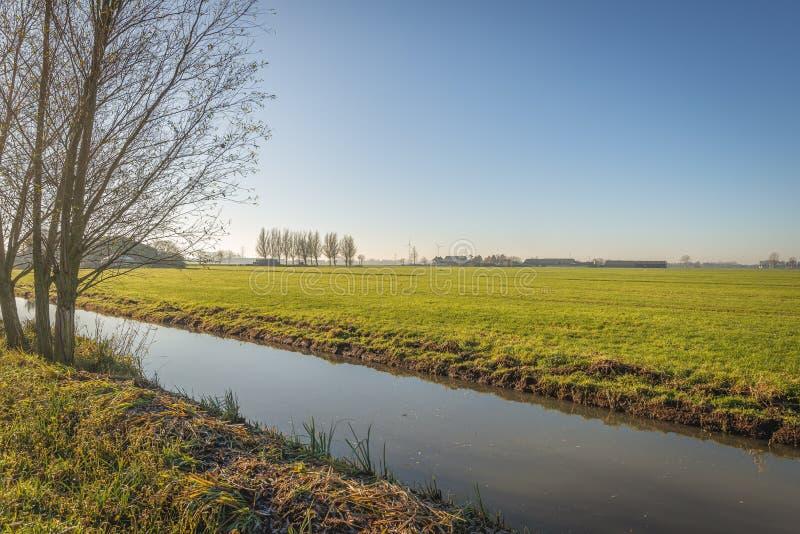 Голландские пейзажи осеннего сезона стоковые изображения