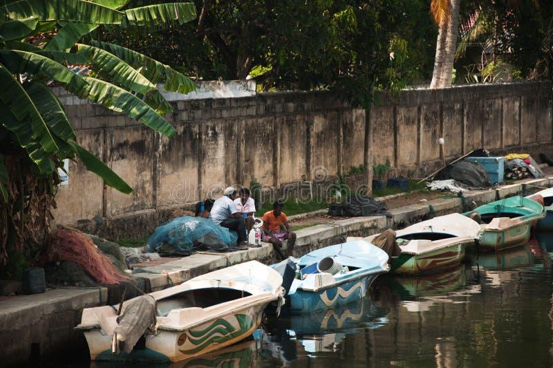 Голландский канал в Negombo стоковое фото