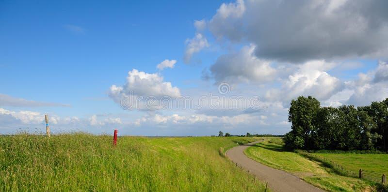 голландский ландшафт типичный стоковое изображение