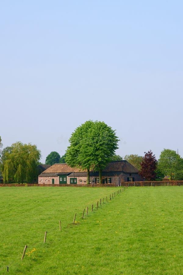 голландский сельский дом стоковое фото