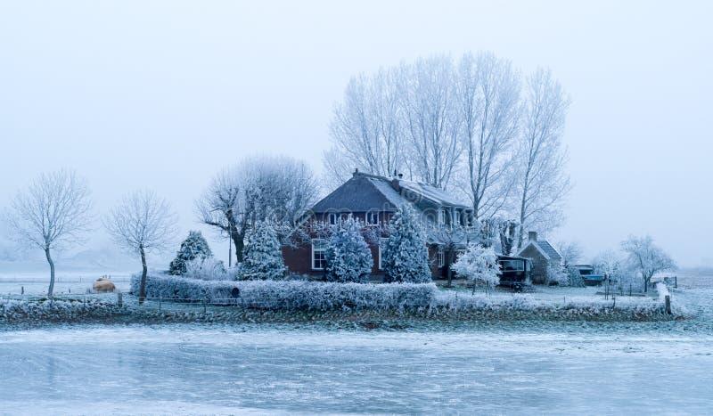голландский сельский дом стоковое изображение rf