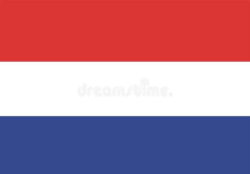 голландский флаг иллюстрация штока