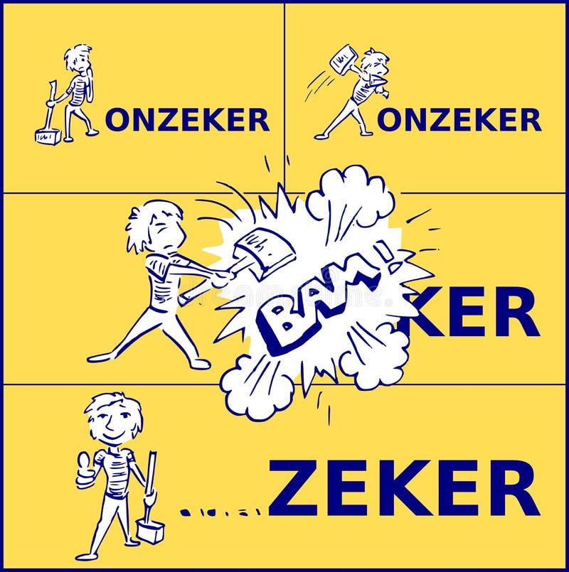 Голландское слово неуверенное становится конечно после шлемов мальчика с молотком бесплатная иллюстрация