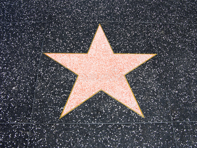 Голливудская звезда стоковая фотография