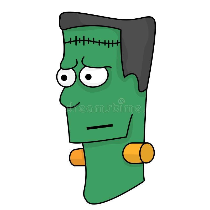 Голова изверга Frankenstein иллюстрация вектора