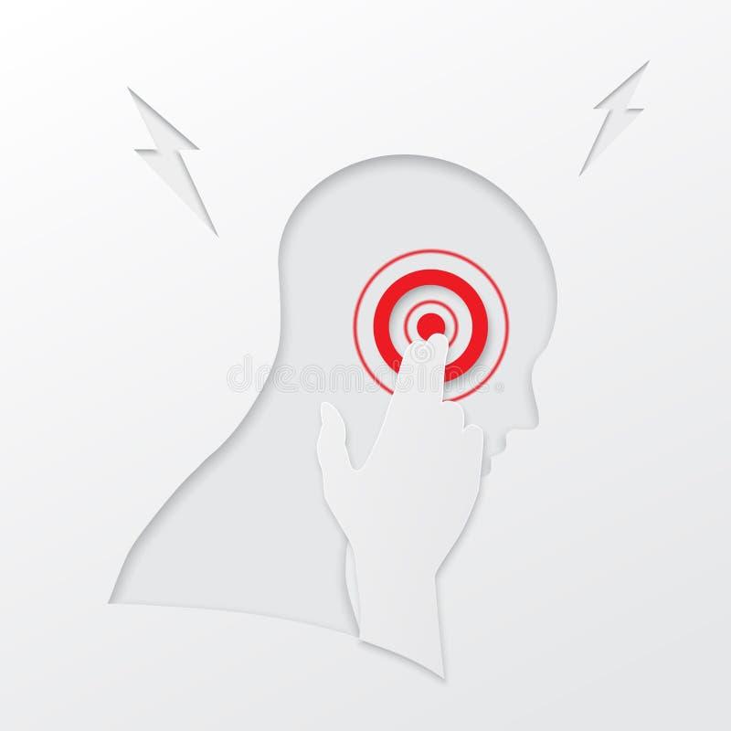 Голова и боль иллюстрация вектора