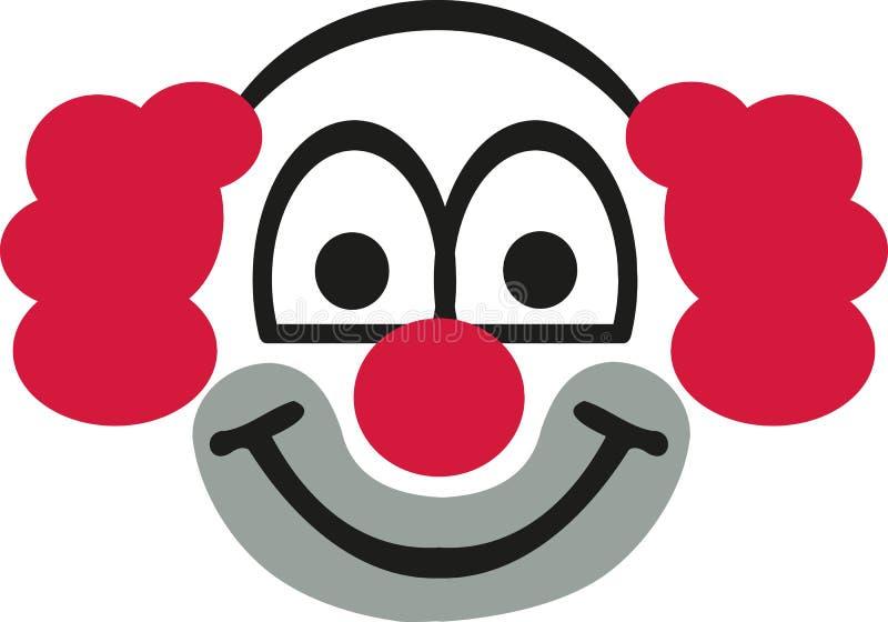 Голова клоуна с красными волосами бесплатная иллюстрация