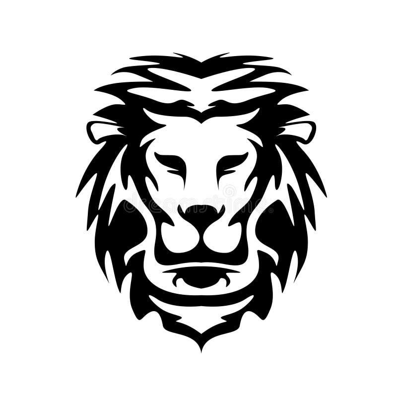 Голова льва - шаблон логотипа вектора стоковые фото