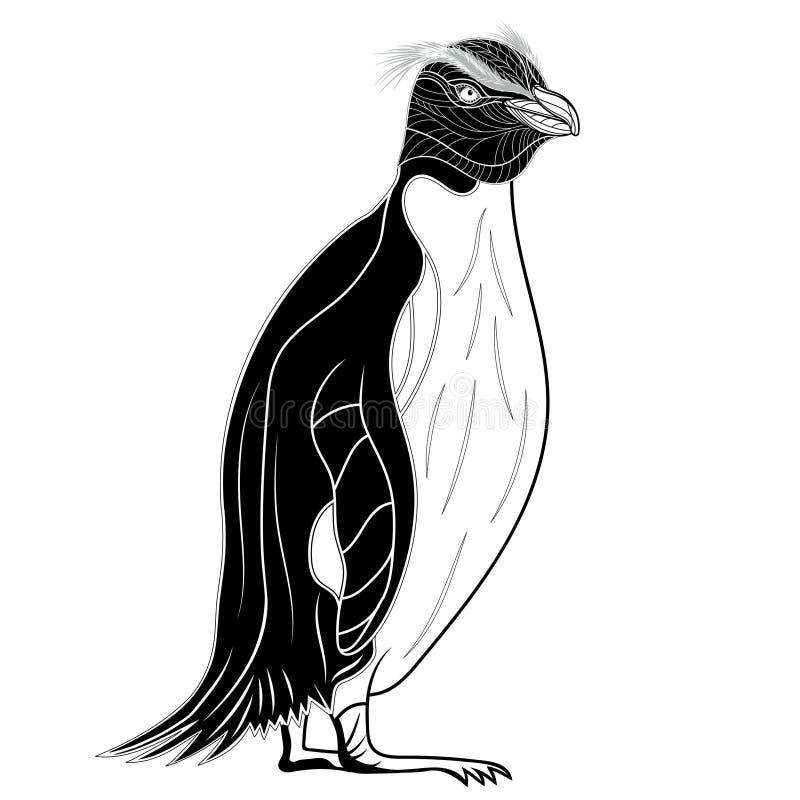Голова птицы императора пингвина как символ для дизайна талисмана или эмблемы, иллюстрации вектора иллюстрация вектора
