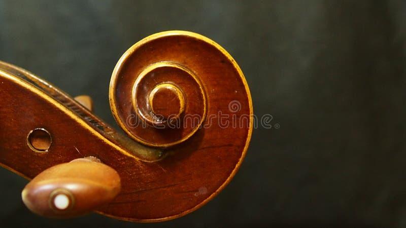 Голова скрипки от скрипки концерта стоковое фото rf