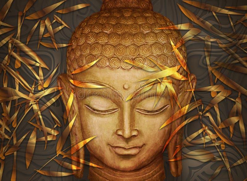 Голова улыбающаяся Будда стоковая фотография rf