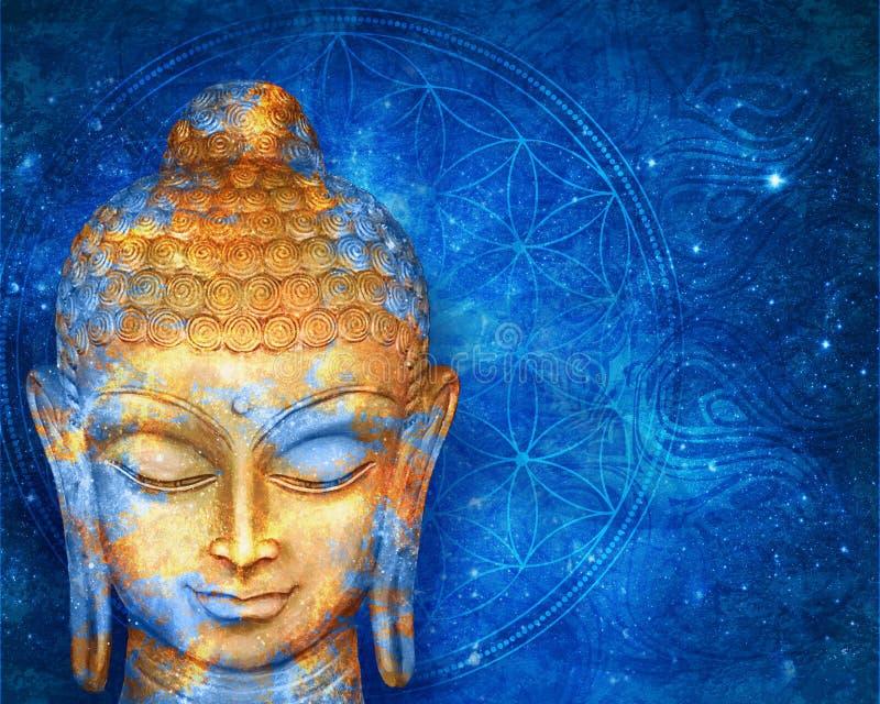 Голова улыбающаяся Будда стоковые изображения
