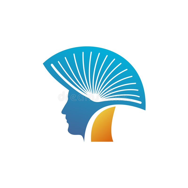 Голова человека с открытым логотипом книги бесплатная иллюстрация