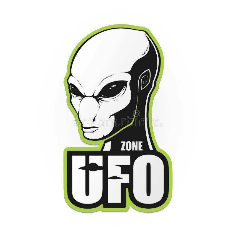 Голова чужеземца и зона UFO бесплатная иллюстрация