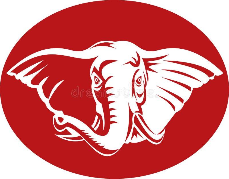 головка африканского слона бесплатная иллюстрация
