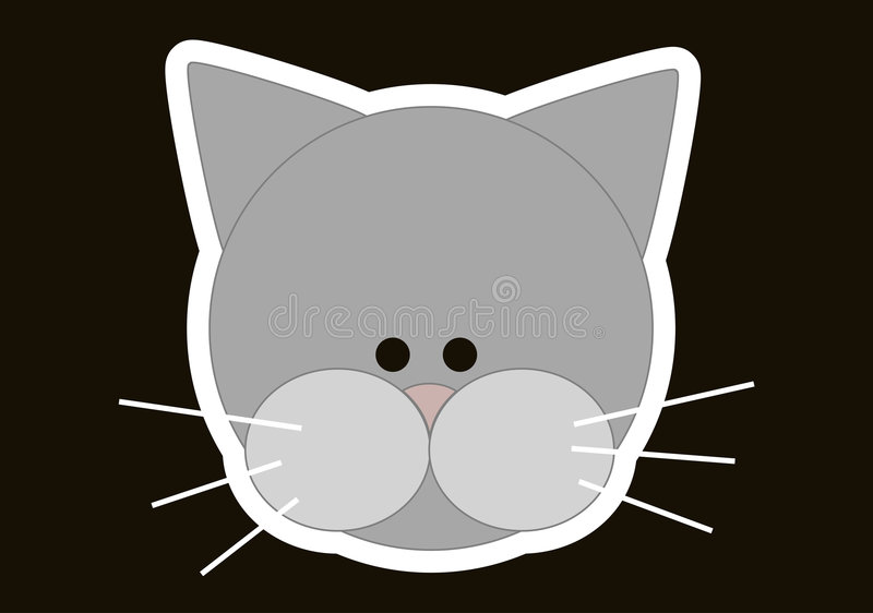головка кота иллюстрация штока